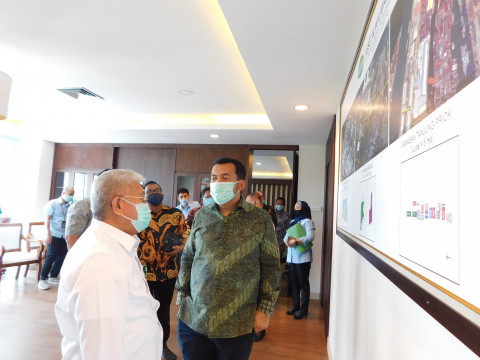 Berkunjung ke KBN, Direktur Utama PT. Krakatau Steel Tbk Silmy Karim Jajaki Kerjasama